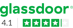 GlassDoor logo - rating of 4.2 out of 5 stars shown for working at John Deere