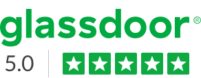 Glassdoor logo and rating